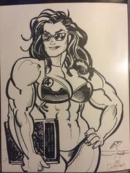 She Hulk Convention Sketch by Jebriodo