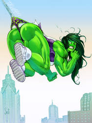She-Hulk Wedgie color sketch by Jebriodo