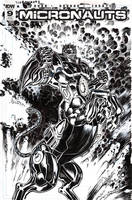 Micronauts #9 variant cover by Jebriodo