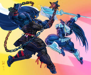 Confrontation color sketch