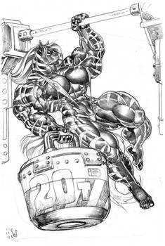 Hellstorm One-armed Pullup sketch