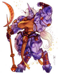 Soraka color sketch commission by Jebriodo