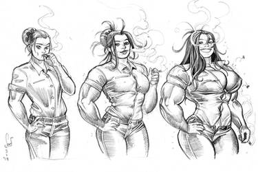 Smoking sketch commission by Jebriodo