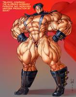 Soviet Superwoman 500% color sketch commission by Jebriodo