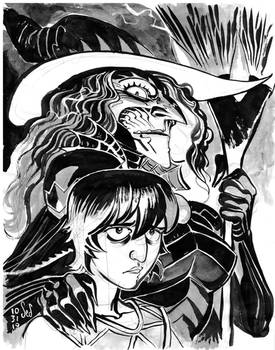 Inktober2019- Witchtress and Gary