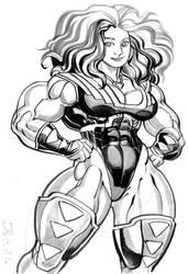 Inktober2019- superhero