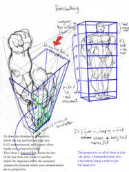 anatomy: foreshortening by Jebriodo