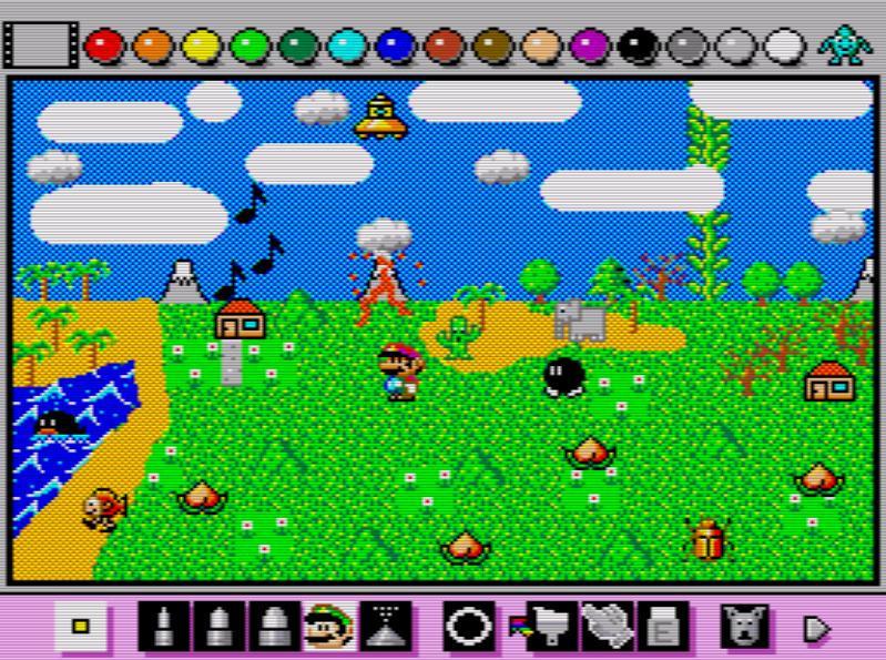 Mario Paint landscape by h1gh3r-r3s