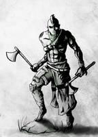 Tribal Warrior by DBZFreako