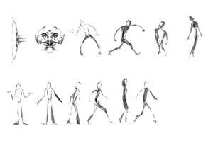 Practice drawings by DBZFreako