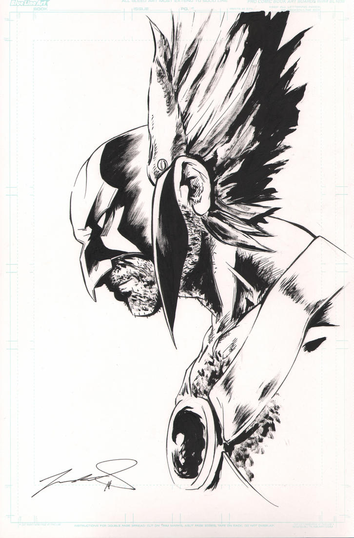 Hawkman (Inktober portrait) by SpaciousInterior