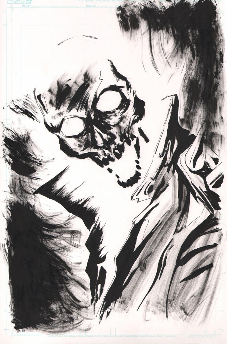 Ghost Rider inktober by SpaciousInterior