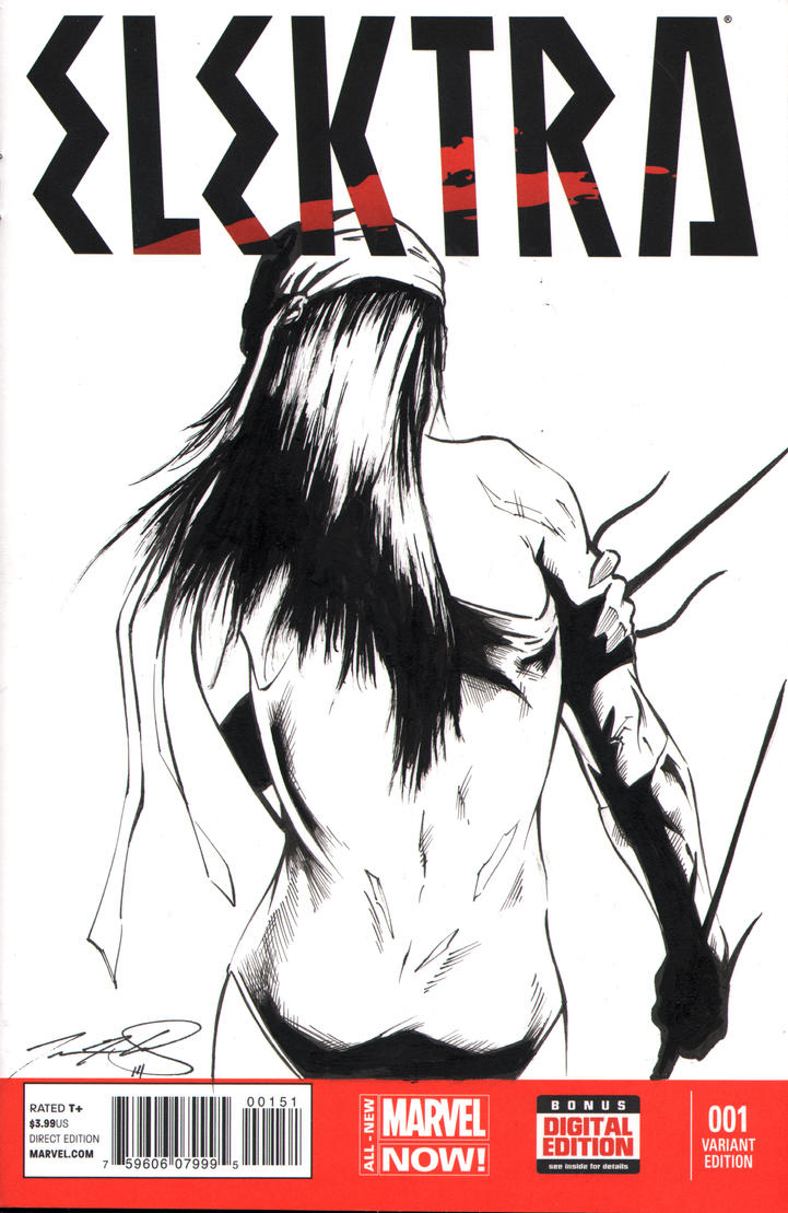 Elektra sketch cover by SpaciousInterior