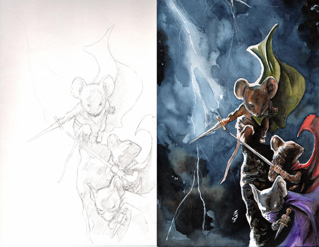 Mouse Guard BCC 2015 yearbook process by SpaciousInterior