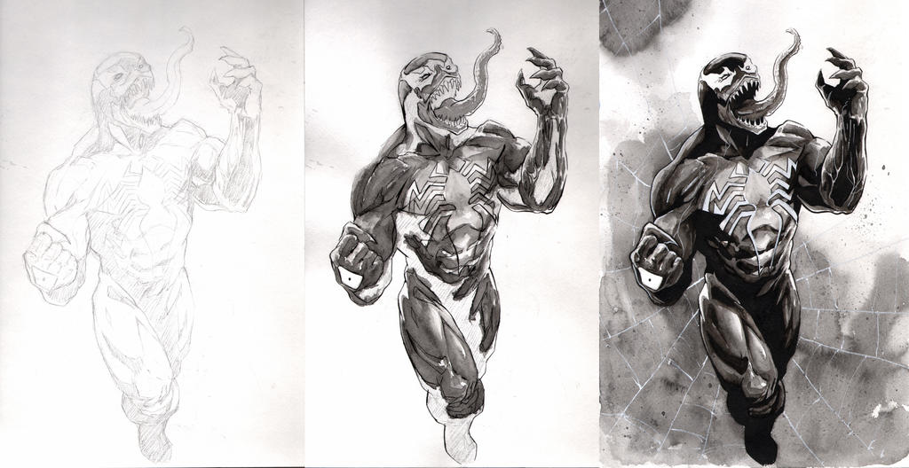 Venom commission in 3 easy steps... by SpaciousInterior
