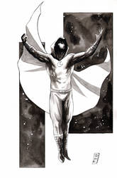 Moon Knight inktober by SpaciousInterior