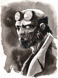 Hellboy 9x12 by SpaciousInterior