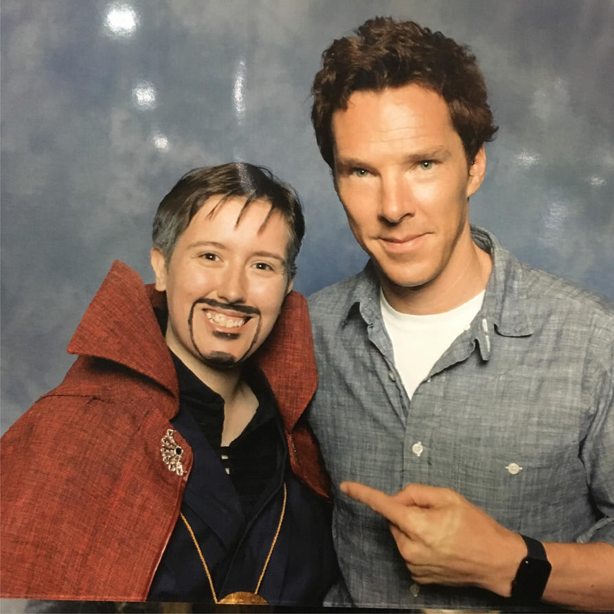 Myself and Benedict Cumberbatch by BartyJnr