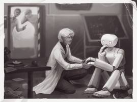 [Illustration] Lenny by Isaac Asimov