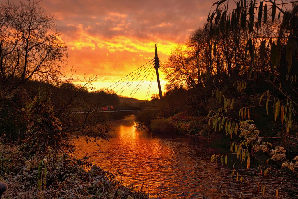 sunset bridge by phil-child