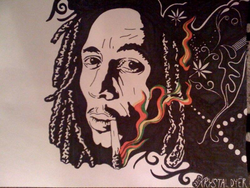 Bob Marley THREE by HippieKrys
