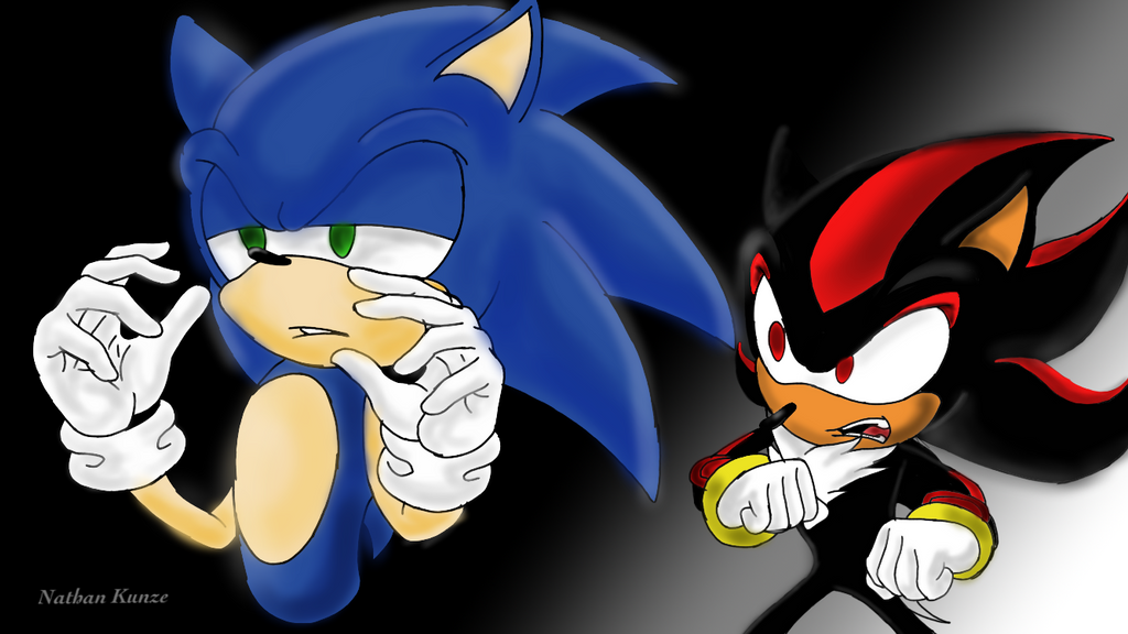 Sonic and Shadow Iphone drawing by Nkunze