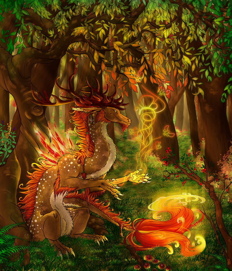 Autumn Dragon... by Saurro
