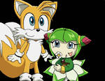 Tails and Cosmo- coloured