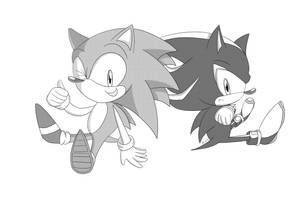 2 Hedgehogs by Lucky-Sonic-77-d