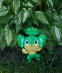A Wild Pansage Appeared by Citrus-Chickadee