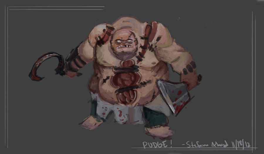 dota 2 pudge by professorwilko on deviantart