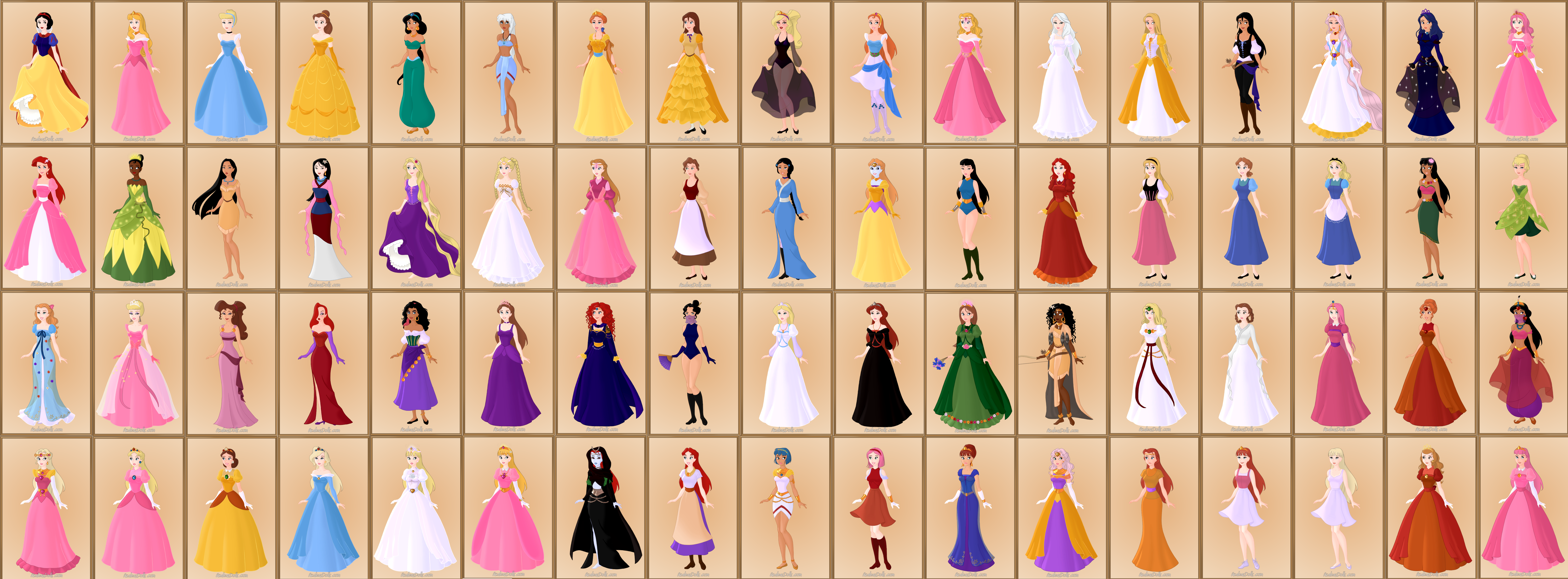 Disney Princess Images With Their Names