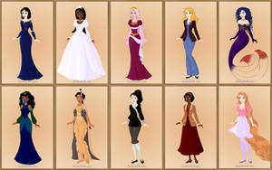 Disney Princesses My Version by roseprincessmitia