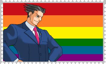 Phoenix Wright Gay by roseprincessmitia