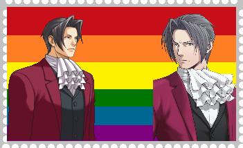 Miles Edgeworth Gay by roseprincessmitia