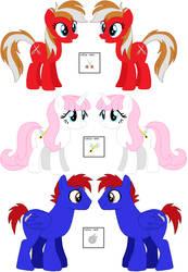 TOE Ponies by roseprincessmitia