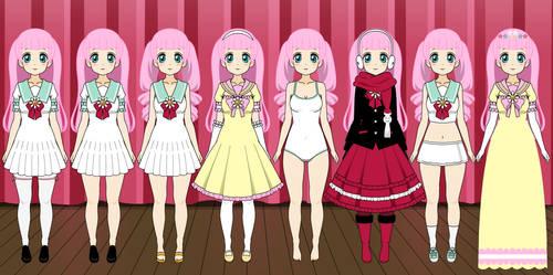 Angel Brush's outfits by roseprincessmitia