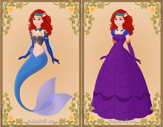 Disney DP Little Mermaid And The Purple Tide by roseprincessmitia