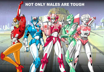 Female autobots by Wolverine9999