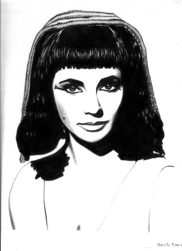 Elizabeth Taylor as Cleopatra by PearlT