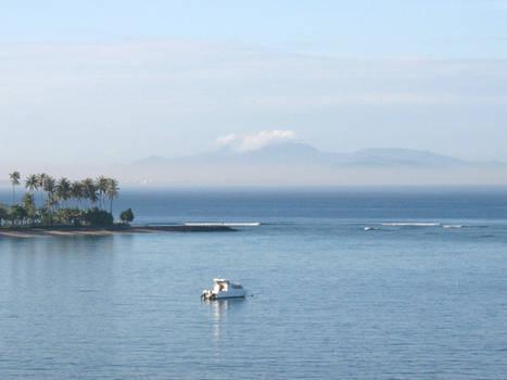 Mountain on the sea