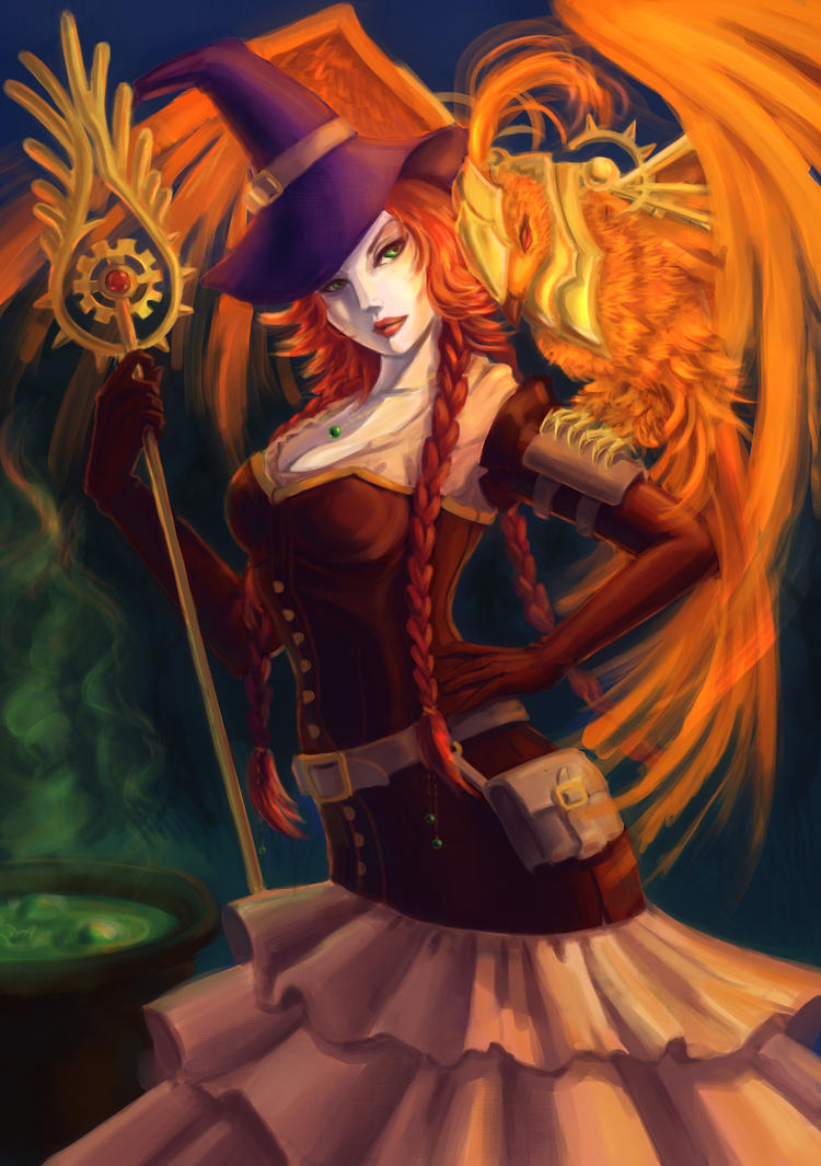 Fiery Witch by KamuiEini