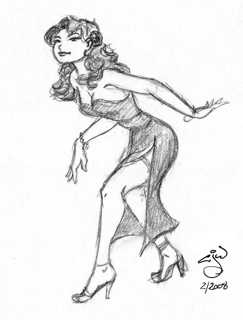 2 piece cocktail dress sketches