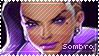 Overwatch Sombra Stamp by Ru-x