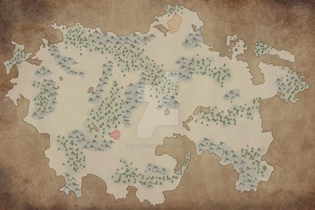 Landkarten Zwischenchritt 1 by Sabrina-Casy