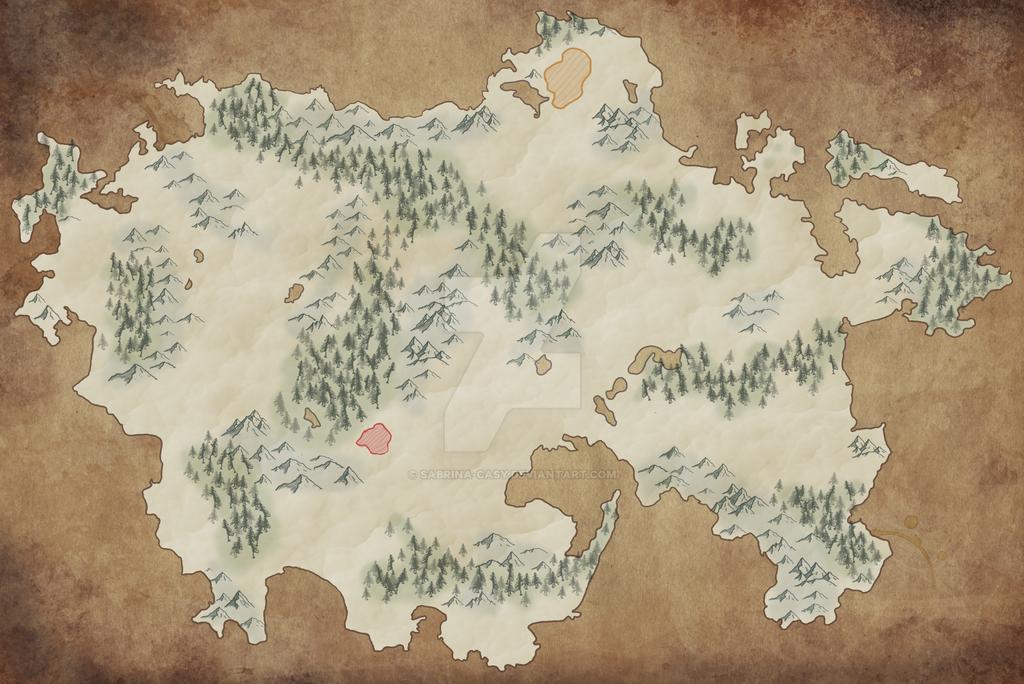 Landkarten Zwischenchritt 2 by Sabrina-Casy