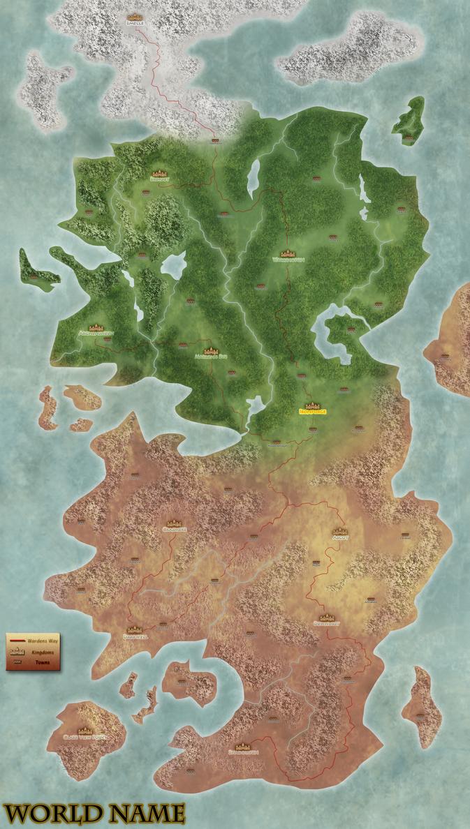 DnD: World Map by SidTheKid on DeviantArt