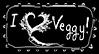 I love Veggy! Stamp