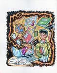 Education Page Illustration for Boston Phoenix