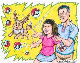 Pokemon Go - Commissioned Art for Comic Con fan